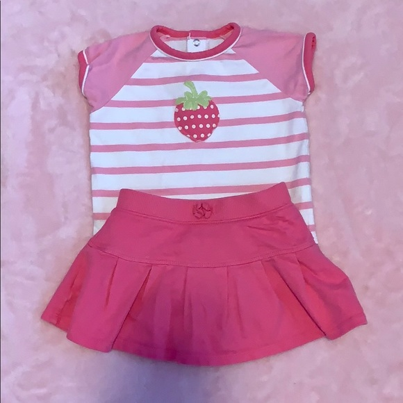 NEW Jumping Beans Baby Toddler Girls 2 Piece Dress /& Bloomers Outfit 18 Mo Set